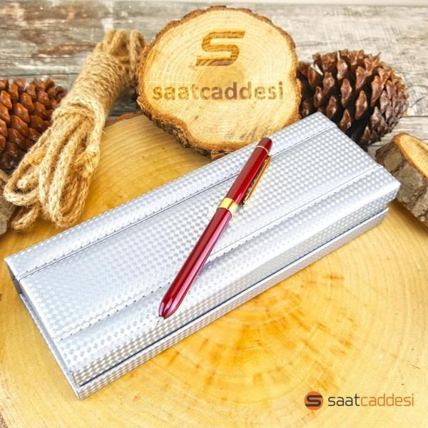 3 Fonksiyonlu Bordo Steel Pen Kalem