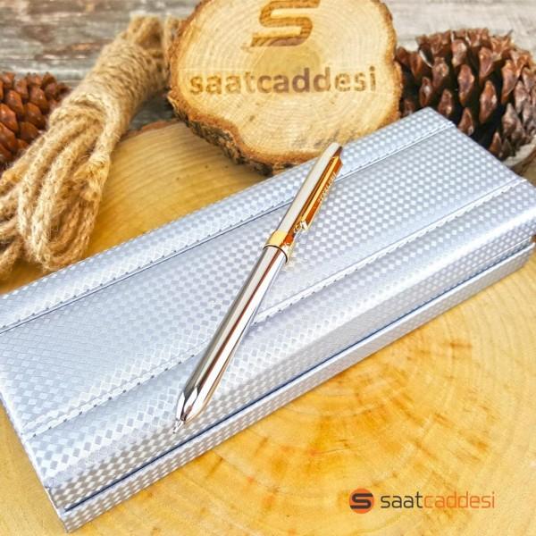 3 Fonksiyonlu Metal Renk Steel Pen Kalem