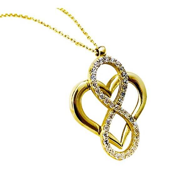 8 Ayar Altın Kalbim Sonsuza Kadar Seninle Kolye Sevgiliye