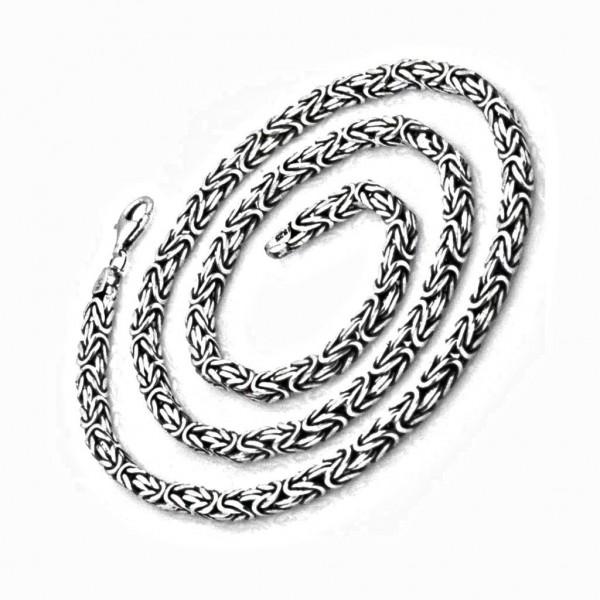 925 Ayar Gümüş 55 cm 32 gr 80 Mikron Kral Zinciri Kolye
