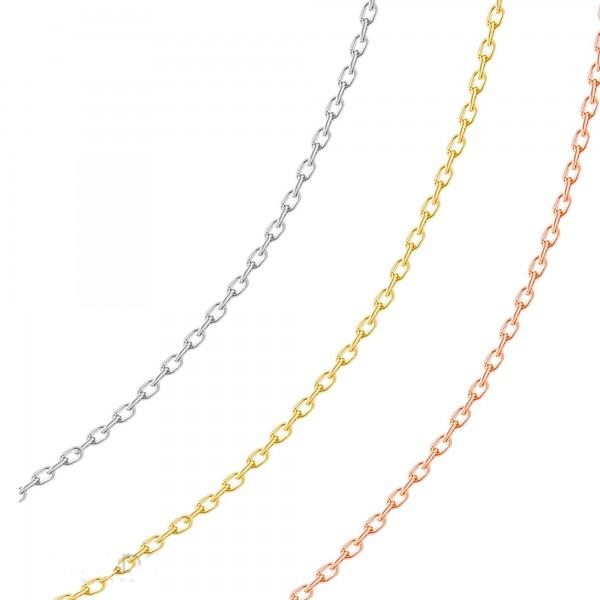 925 Ayar Gümüş Kolye Zinciri Rose & Gümüş & Altınsarısı Üç Renk