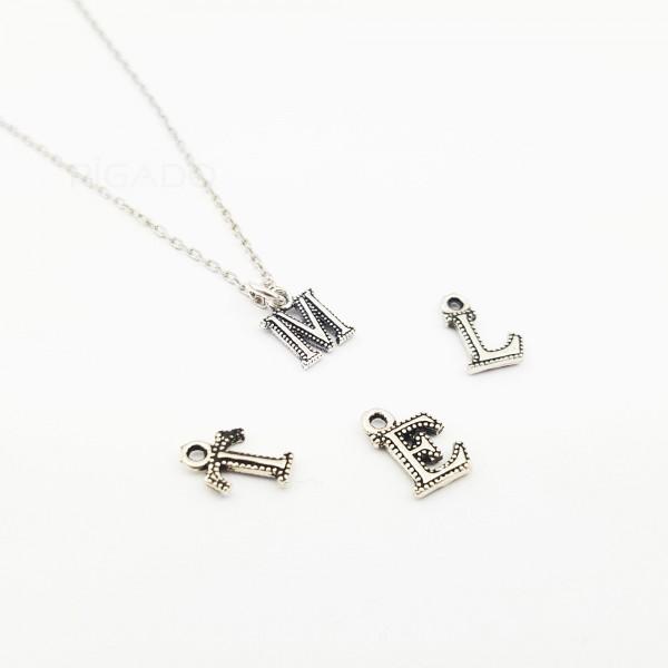 925 Ayar Gümüş Zarif Harf Kolye