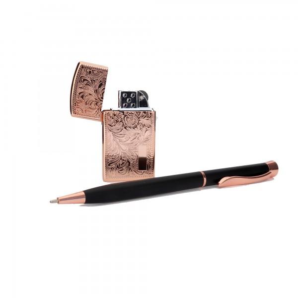 Premium İşlemeli Çakmak Kalem Seti