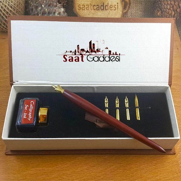 Steel Pen Ahşap Divit Kaligrafi Kalem Seti