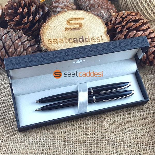 Steel Pen 2 li Kalem Seti Siyah Babalar Günü Özel