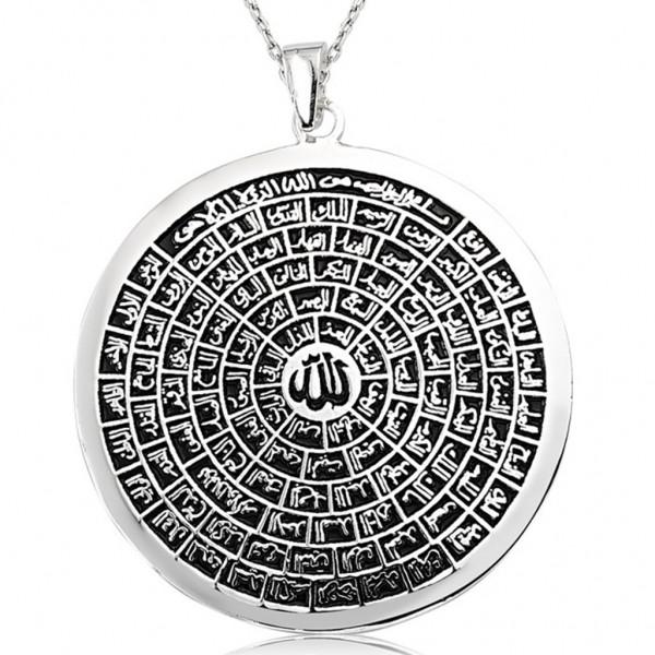 Esma-ül Hüsna Allah'ın 99 İsmi Bayan & Erkek Gümüş Kolye
