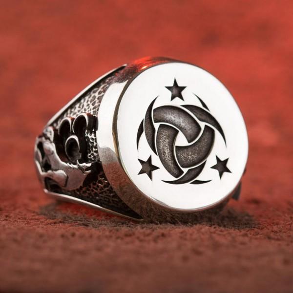 Gümüş Teşkilât-ı Mahsusa Yüzüğü (Ay Yıl...