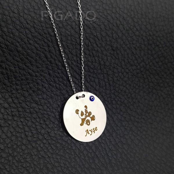 İsme Kişiye Özel 925 Ayar Gümüş Panda Baskı...