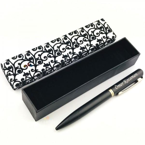 İsme Kişiye Özel Metal Siyah Tükenmez Kalem + ...