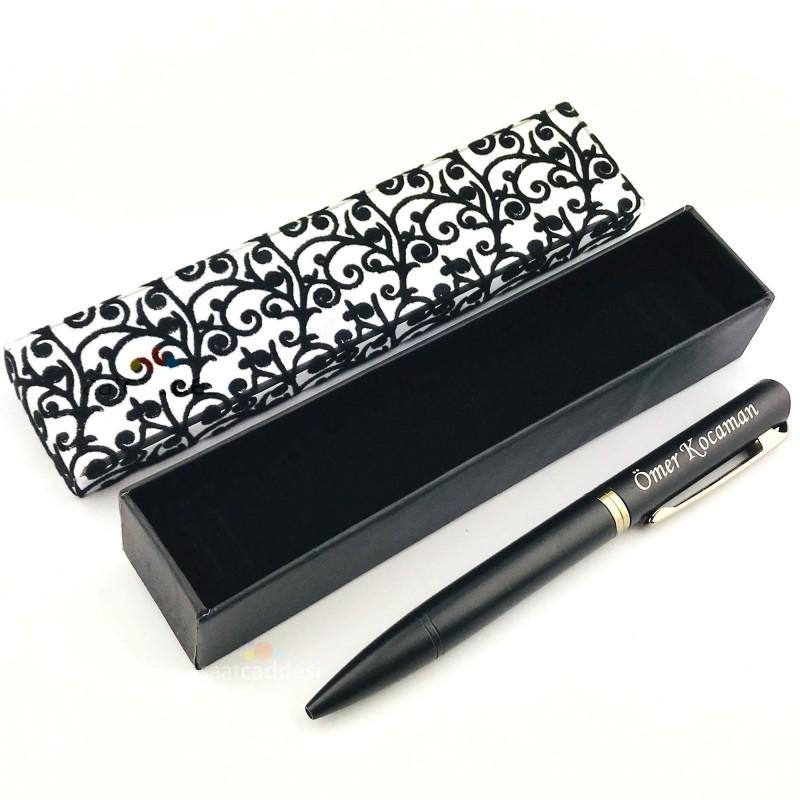 İsme Kişiye Özel Metal Siyah Tükenmez Kalem