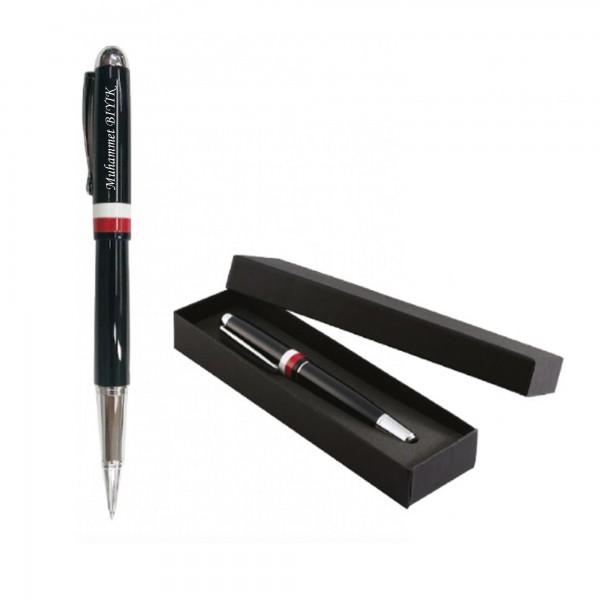 İsme Kişiye Özel Siyah Roller Kalem Kırmızı ...
