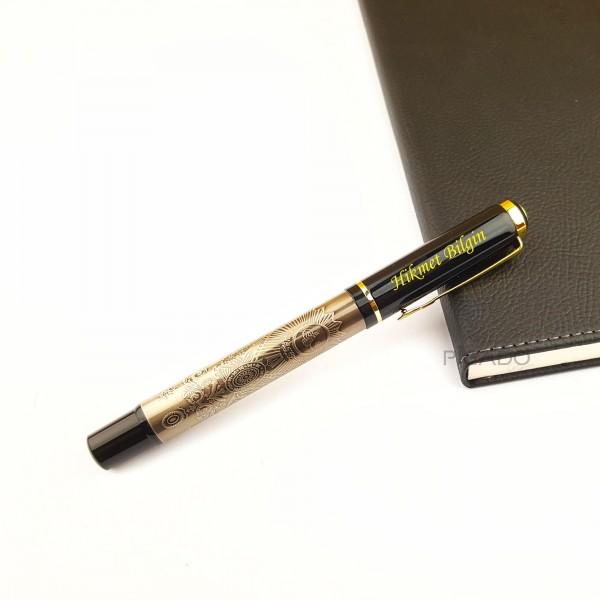 Besmele Kabartmalı Kişiye Özel Kalın Lüks Roller İmza Kalemi
