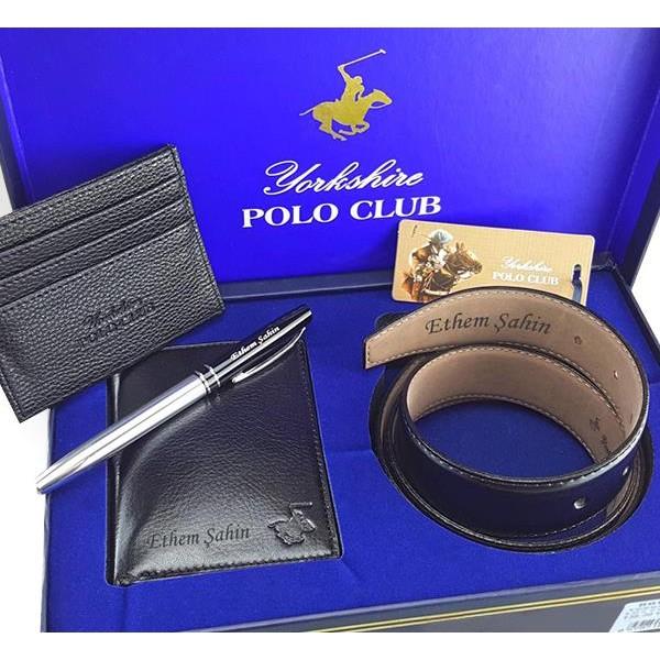 İsme Özel Polo Club Cüzdan Kemer Kartlık Seti + Hediyeli