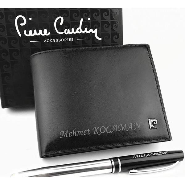 Kişiye Özel Pierre Cardin Deri Erkek Cüzdan + Kalem HEDİYELİ