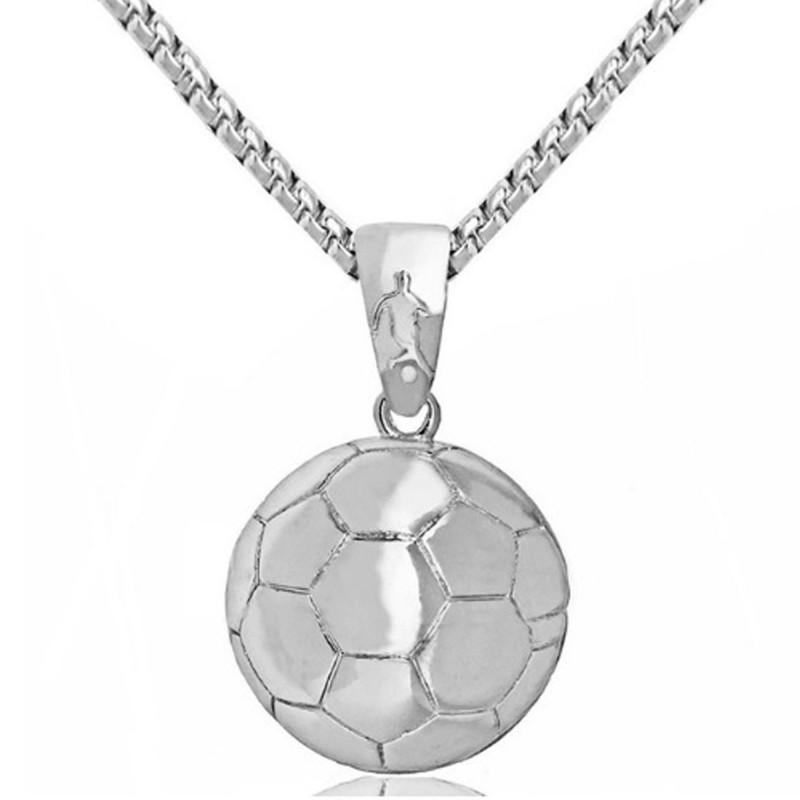 Metal Futbol Topu Spor Takı Kolye