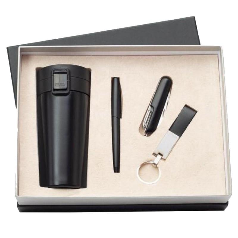 Özel Kutulu Premium Termos Fonksiyonlu Çakı Kalem Anahtarlık Set