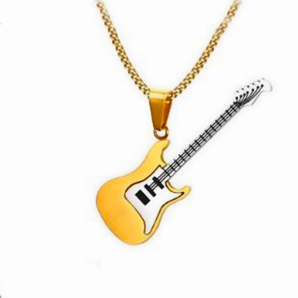 Paslanmaz Çelik Elektro Gitar Kolye Erkek Takı