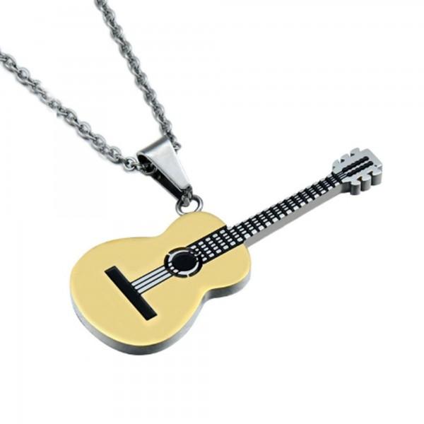 Paslanmaz Çelik Klasik Gitar Kolye Müzik Takı