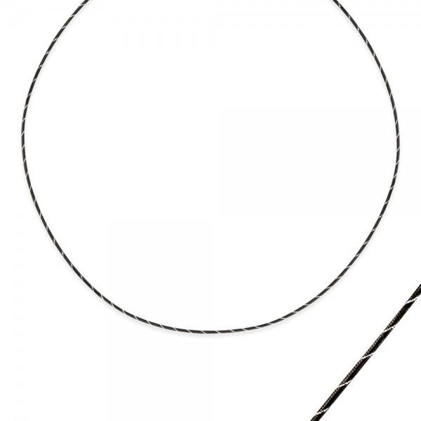 Pigado 925 Ayar Gümüş Siyah Unisex Kolye Zinciri