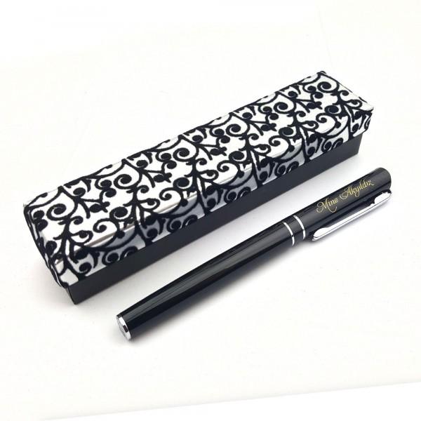 Kişiye Özel Siyah Metal Roller İmza Kalemi ...