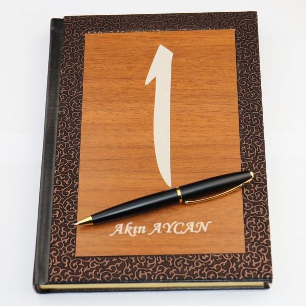 Pigado İsme Kişiye Özel Elif Yazılı Ajanda Kalem Seti