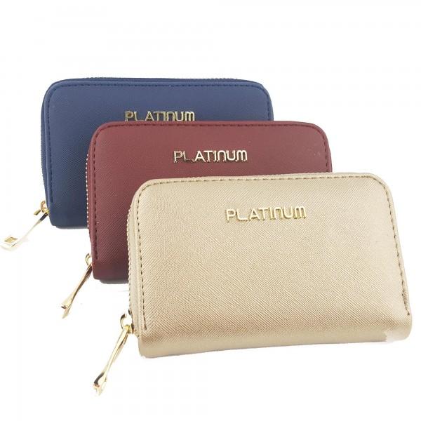 Platinum Fermuarlı Deri Üç Renk Bayan Cüzdanı
