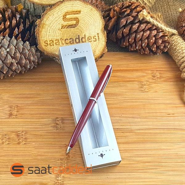 Steel Pen Bordo Tükenmez Kalem