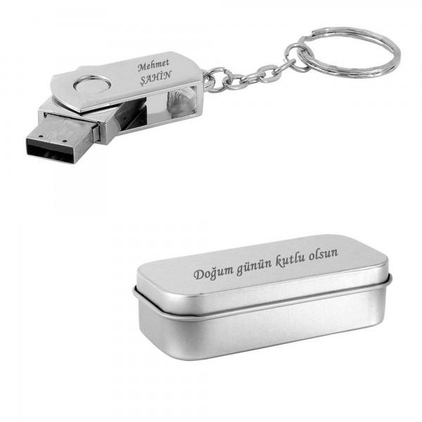 İsme Kişiye Özel 16 GB Usb Bellek Anahtarlık