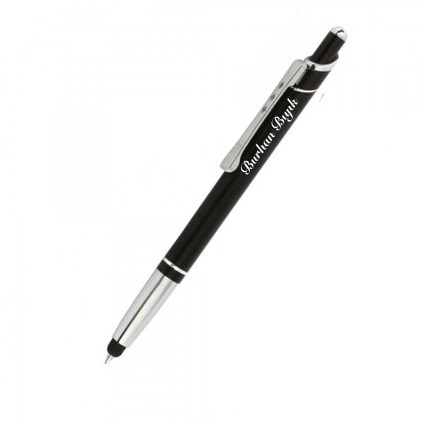 İsme Kişiye Özel Basmalı Dukunmatik Touchpenli Tükenmez Kalem