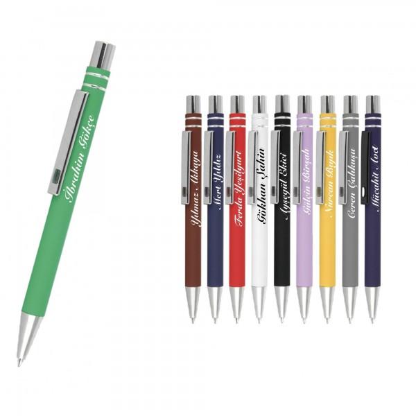 İsme Kişiye Özel Basmalı Siyah Tükenmez Kalem