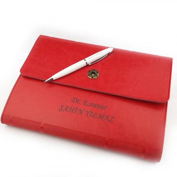 İsme Kişiye Özel Çantalı Premium Defter Kalem Seti