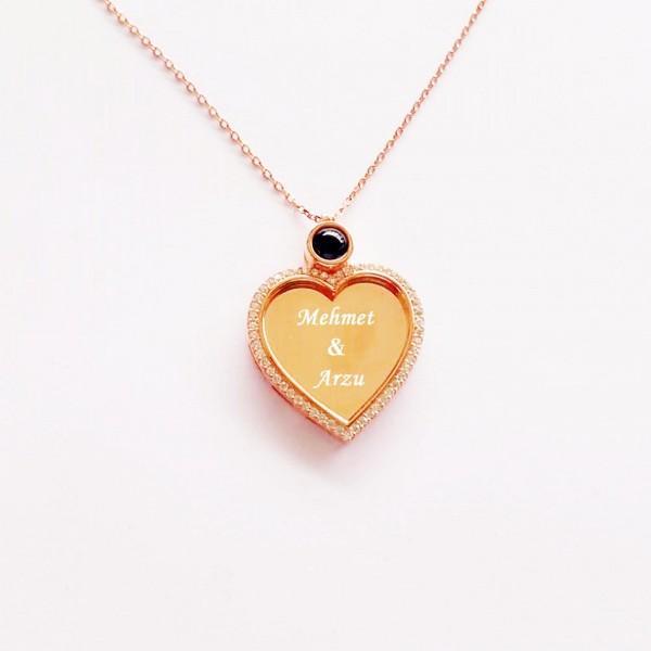 İsme Kişiye Özel Gümüş 100 Dilde Seni Seviyorum Kalpli Ko...