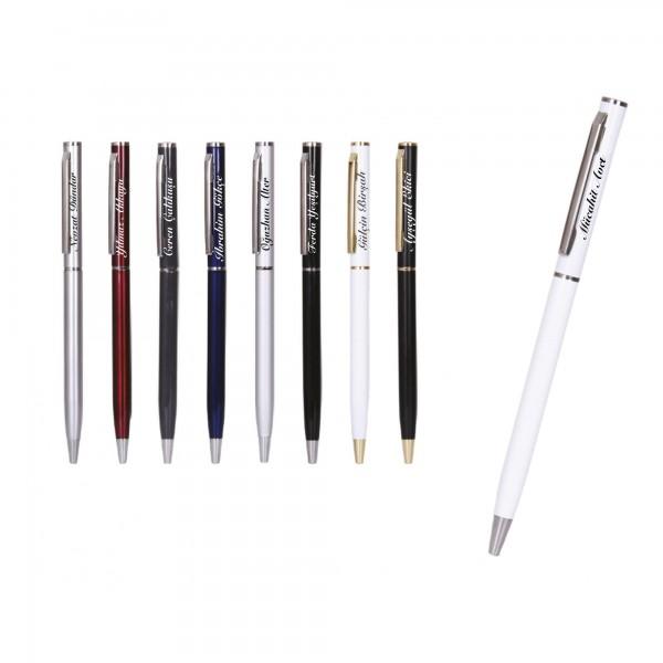 İsme Kişiye Özel Metal İnce Tükenmez Kalem