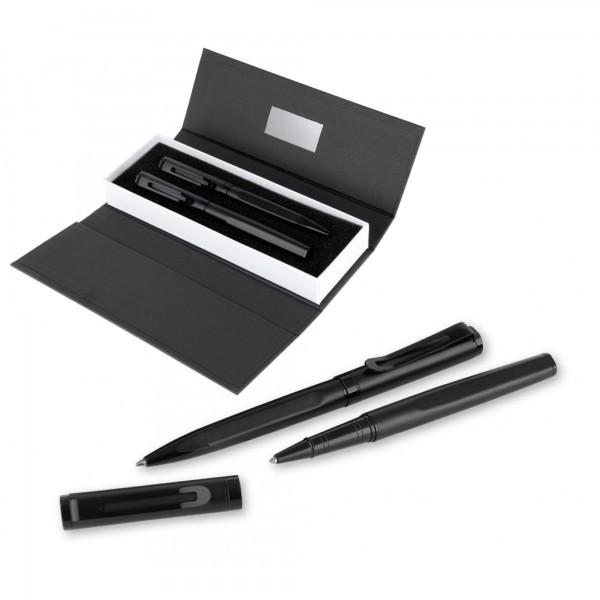 Özel Kutusunda 2'li Siyah Roller ve Tükenmez Kalem Seti