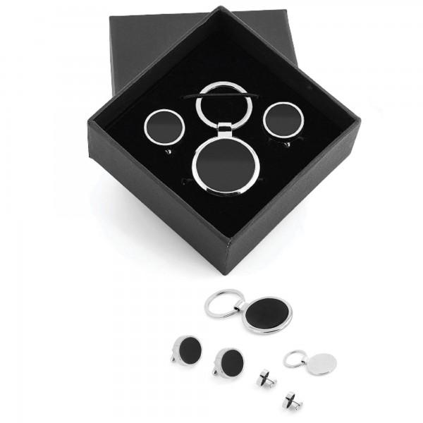 Özel Kutusunda Kol Düğmesi Anahtarlık Set