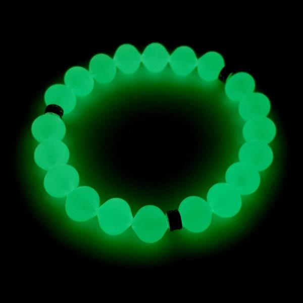 Unisex Karanlıkta Parlayan Fosforlu Bileklik